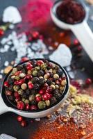 fond d'épices aromatiques différentes photo