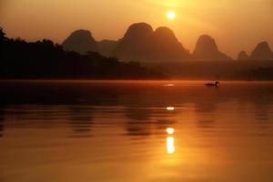 levers de soleil dans les marais photo