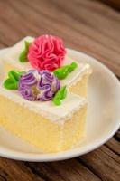 gâteau fleur photo