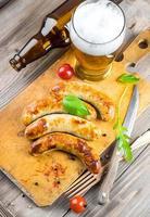 saucisses de Munich aux tomates photo