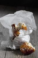 pâte à lessive, tresse à base de graines de tournesol photo