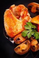ailes de poulet rôties photo