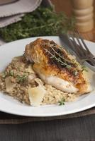 poulet avec risotto photo