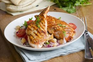 poulet avec salade