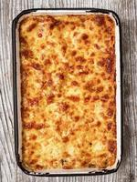 lasagne au four rustique italienne photo