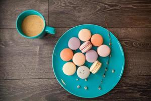 beaux macarons multicolores photo