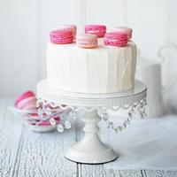 gâteau de couche de macaron photo
