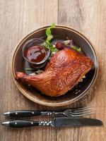 cuisse de poulet rôti photo