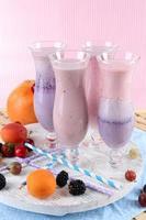 délicieux milkshakes, gros plan photo