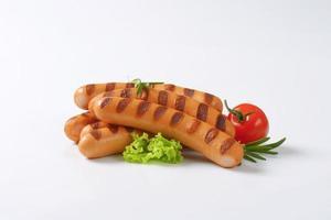 saucisses de vienne grillées photo