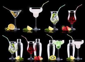 ensemble de cocktails d'alcool