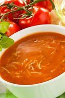 soupe à la crème de tomates photo
