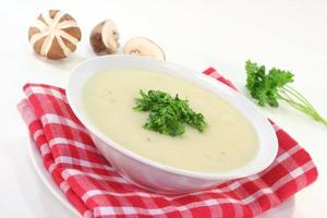 soupe à la crème de champignons