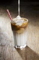 verre de café glacé.