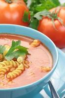 Soupe à la tomate.