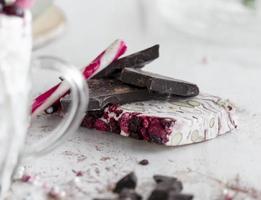 nougat, candycane et chocolat photo
