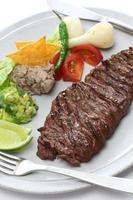 steak de jupe grillée, cuisine mexicaine photo