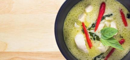 curry vert de Thailande photo