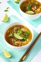 soupe de nouilles au poulet thaï