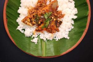curry de poisson et riz photo