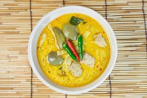 curry de boule de porc vert, cuisine thaïlandaise