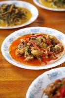 Bouchent curry de porc épicé thaïlandais