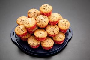 pile de muffins aux pépites de chocolat