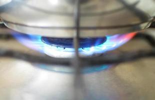 flamme du four. photo