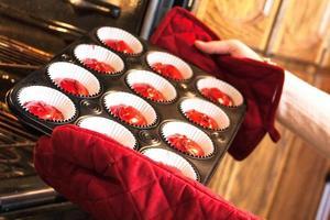 cuisson des cupcakes photo