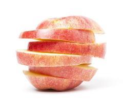 pomme rouge tranchée photo