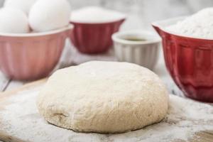 ingrédients de recette de pâte photo