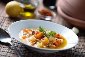 soupe de citrouille marocaine photo