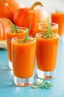 soupe à la crème de légumes (citrouille, carotte).