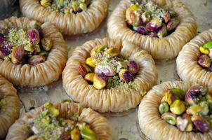 pâtisserie baklava fraîchement préparée