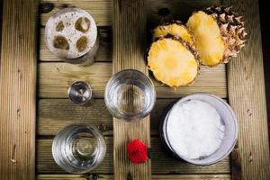 préparations pour cocktails piña colada photo