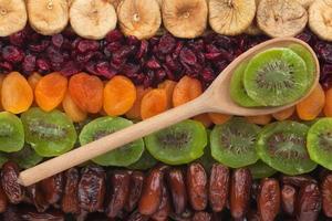 cuillère en bois avec kiwi photo