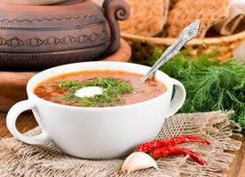bortsch, soupe de betterave et chou photo