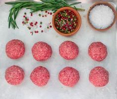 cuisson des boulettes de viande photo