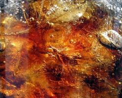 cola, glace et bulles d'air photo