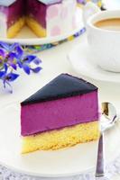 gâteau aux bleuets et au yaourt. photo