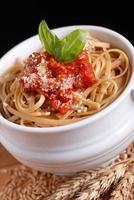 spaghetti à la sauce tomate