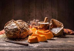 pain à la citrouille photo