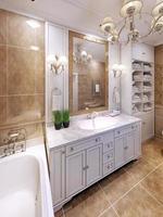 idée de design de salle de bain classique de luxe photo