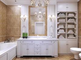 meubles dans la salle de bain classique photo