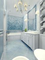 salle de bain style art déco photo