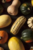 assortiment de courge d'automne biologique