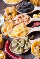 pâtes colorées