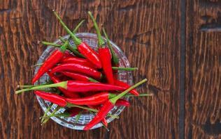 piments rouges photo