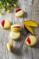 macaron jaune photo