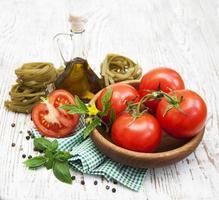 ingrédients pour pâtes italiennes photo